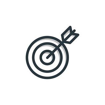 ターゲット, アイコンを, ビジネス, シンボル, マーケティング, 成功