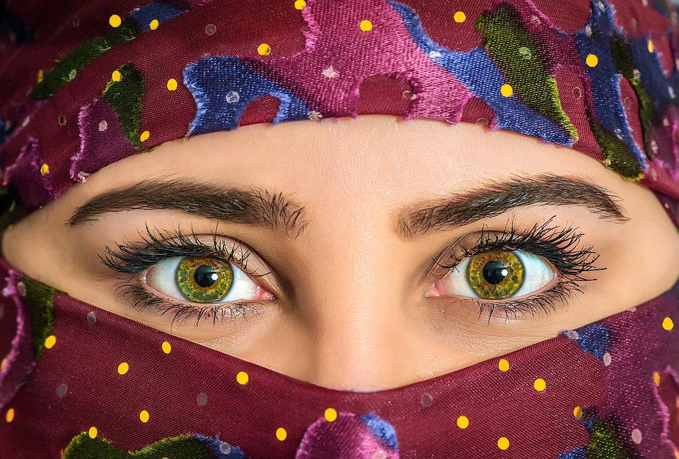 Nő, Headscarf, Egzotikus, Gyönyörű, Sál, Hagyományos