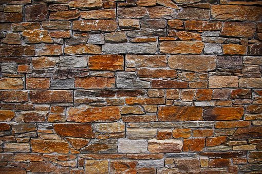 Uneven Masonry Work: Wall, Stone Wall, Stone, Old, Texture