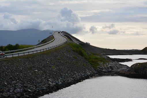 Straße, Atlantik, Norwegen, Weg