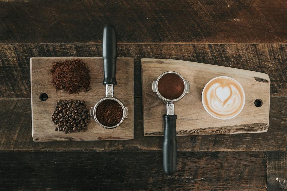 Káva, Fazole, Osivo, Prášek, Dřevěné, Sekání, Deska