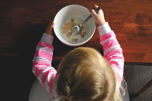 People, Kid, Child, Baby, Eating, Cereal