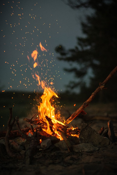 Fire, Flame, Lights, Bonfire, Campfire, Dark, Night