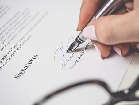 Penmanship, Pen, Signature, Document