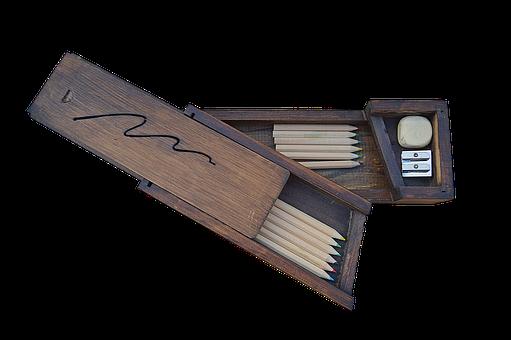 木製の箱, 筆箱, 木材, 学校, 教室, Png