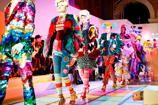 ファッション, モデル, 女性, 女の子, カラフルです, 服装, 衣装