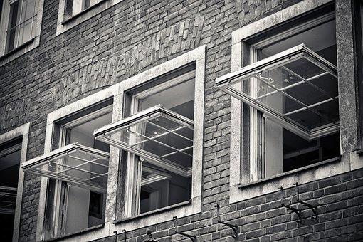 Richtig Lüften gegen Corona - vom Stoßlüften, Querlüften und Kippen - typische englische Fenster