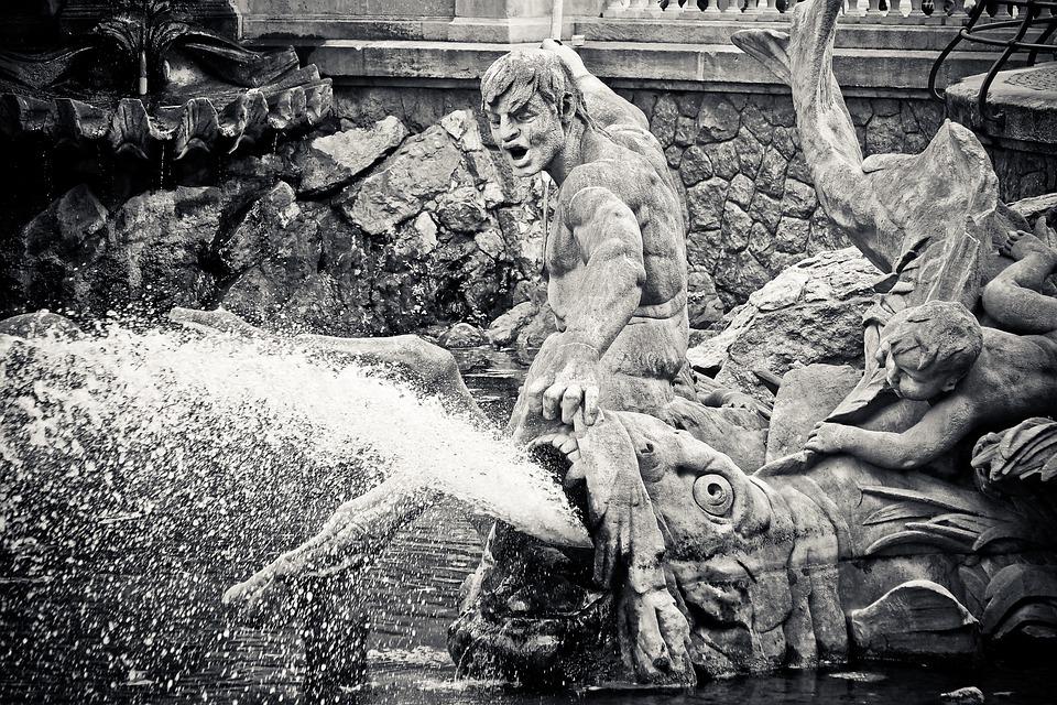 像, 噴水, フィギュア, 彫刻, 古い, 記念碑, 歴史的に, 興味の場所, モニュメント, 特徴的です