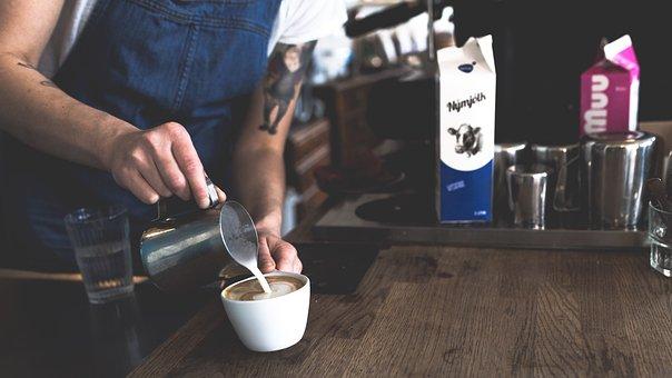Coffee, Cafe, Latte, Art, Steamed, Milk