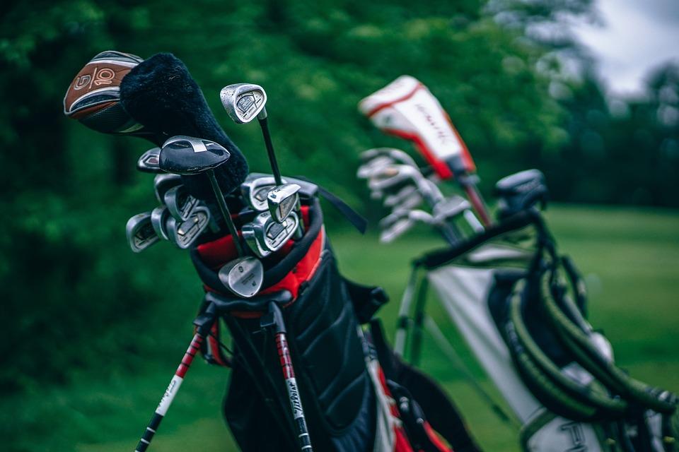 緑, 草, フィールド, 屋外, 自然, ぼかし, ゴルフクラブ, スポーツ