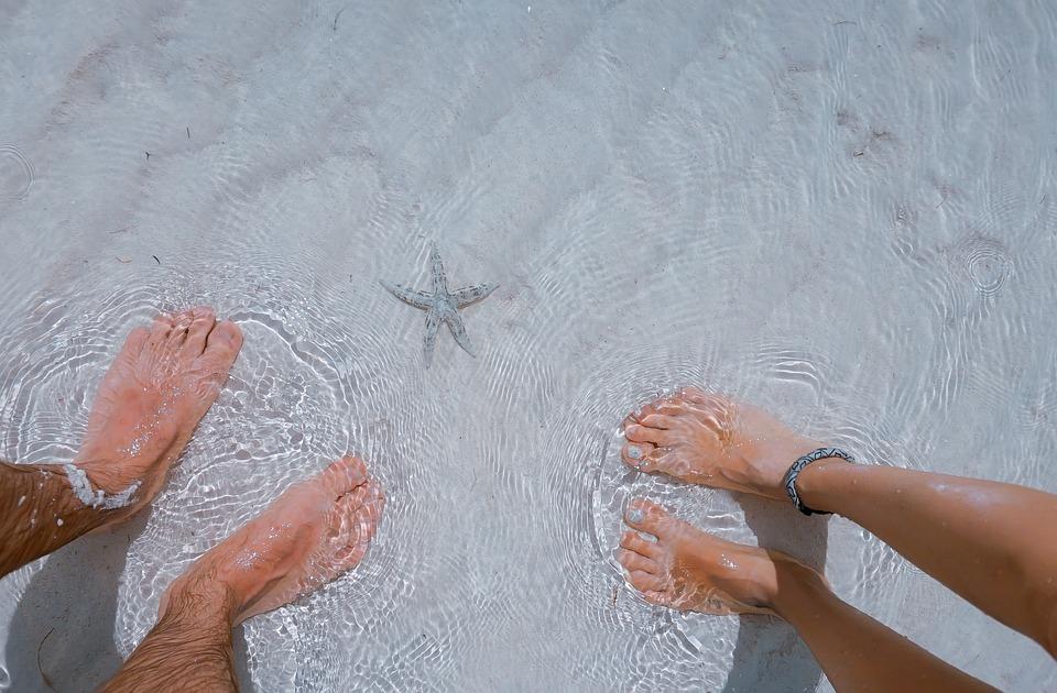 Sea, Ocean, Water, Nature, People, Couple, Foot