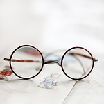 okulary, oczy, brocante