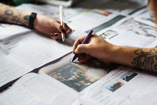 Noviny, Papír, Materiál, Informace