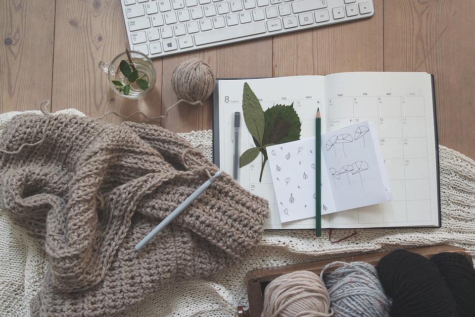 enkel genser, strikke, tittinngarn