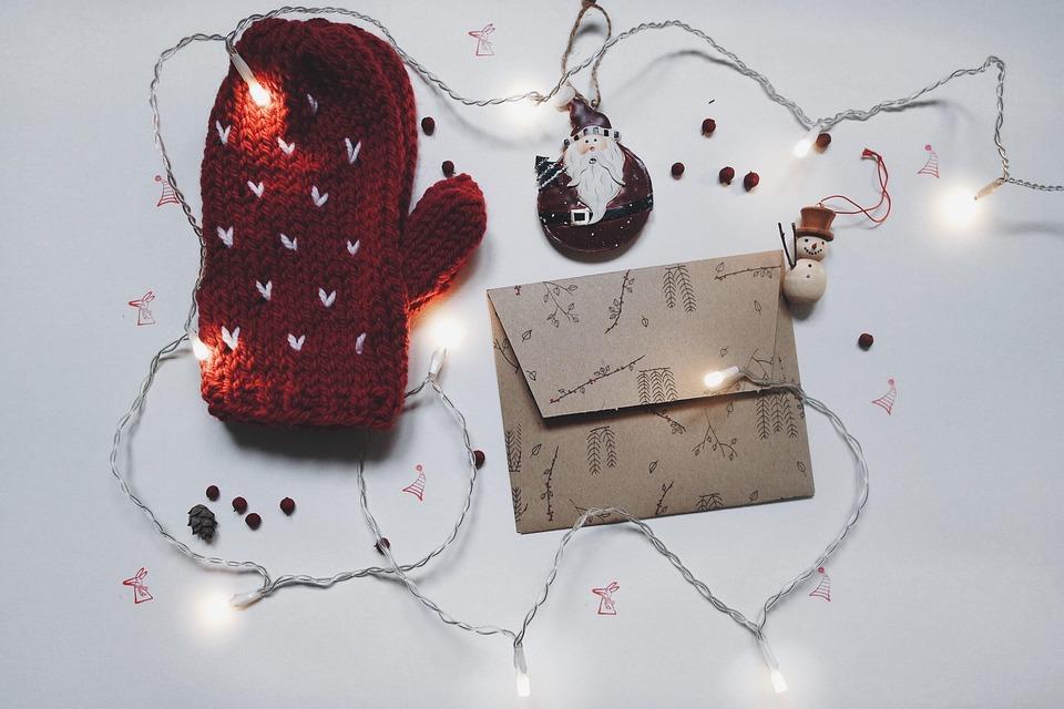 Строка, Огни, Рождество, Декор, Конверт, Праздник