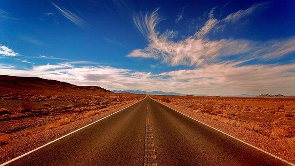 Landscape, Highlands, Desert, Blue, Sky