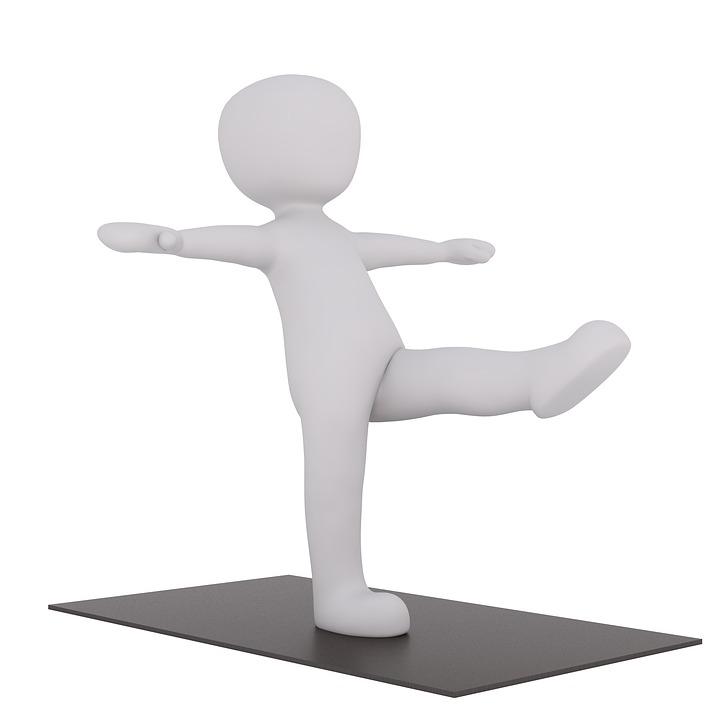 Sport, Kondalini, Yogamatte, 3D Model, Freigestellt, 3D