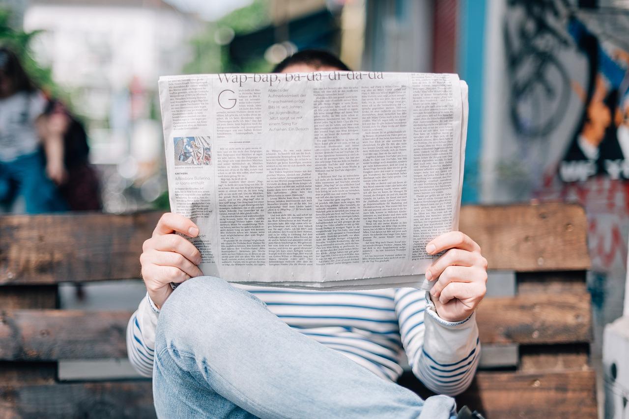 Man, Boy, Male, Read, Reading, Newspaper, Hands