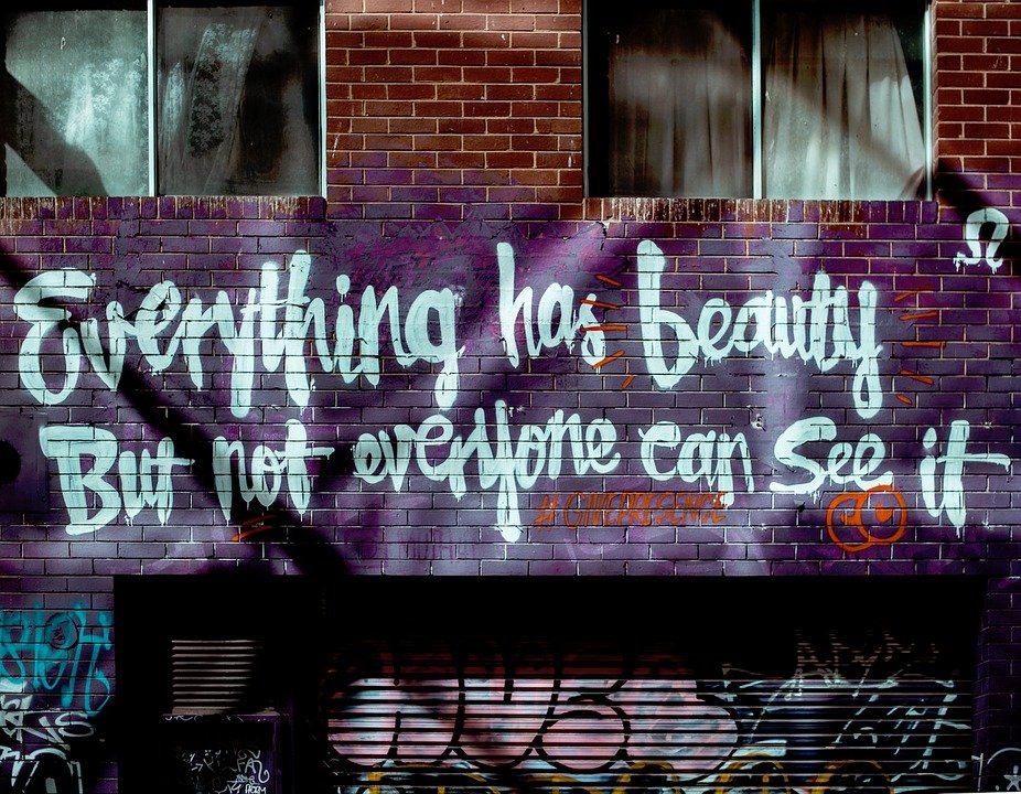 Wall Art Graffiti Colors Quote