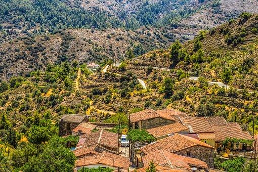 Cyprus, Lazanias, Village, Roofs