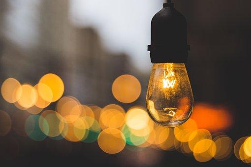 Light Bulb Electricity Blur Bokeh