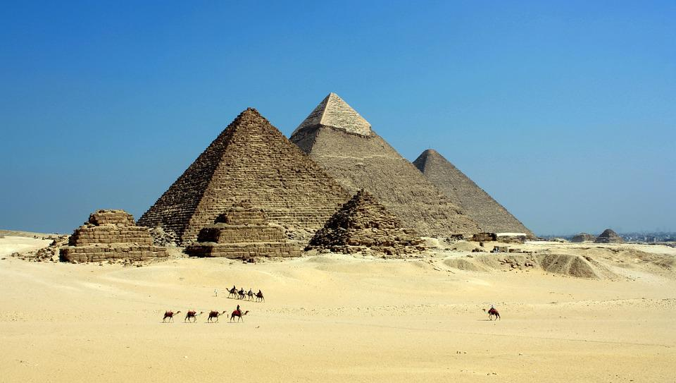 Egypt, Desert, Animals, Camels, Sand, Structures