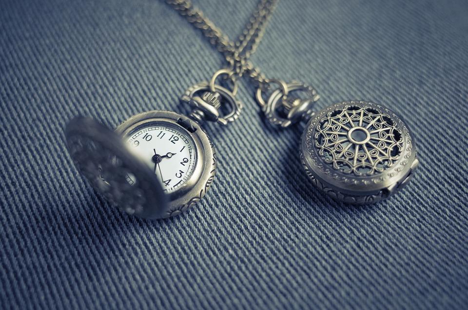 ポケット時計, ロケット, 時計, 時間, クロック, 銀, ジュエリー, ペンダント, ネックレス