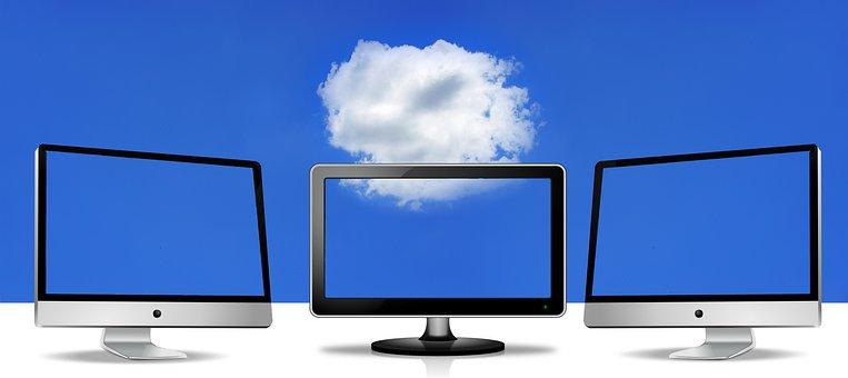 Nuvem, monitor, computação em nuvem