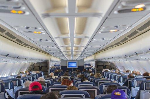 飛行機座席, 飛行機, フライト, 乗用車, 平面, 航空機, キャビン
