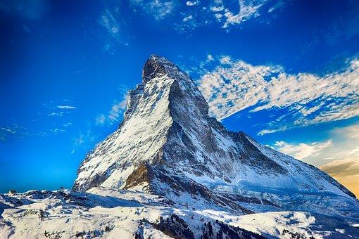 山, 雪, 冬, 風景, 空, 雪山, 冷, 青, 自然, 氷, シーズン