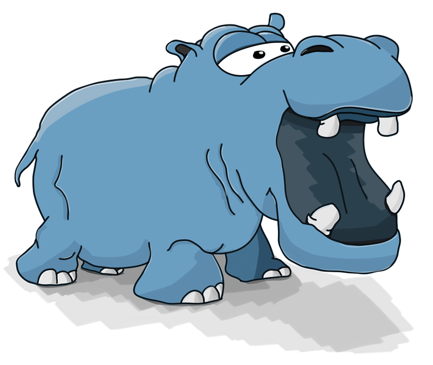 Hippo Cartoon Cute 183 Free Image On Pixabay