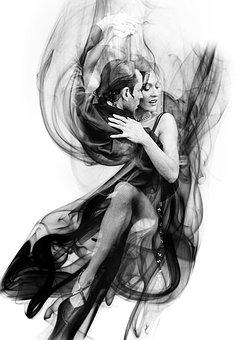 Smoke, Pair, Dancing Couple, Dance