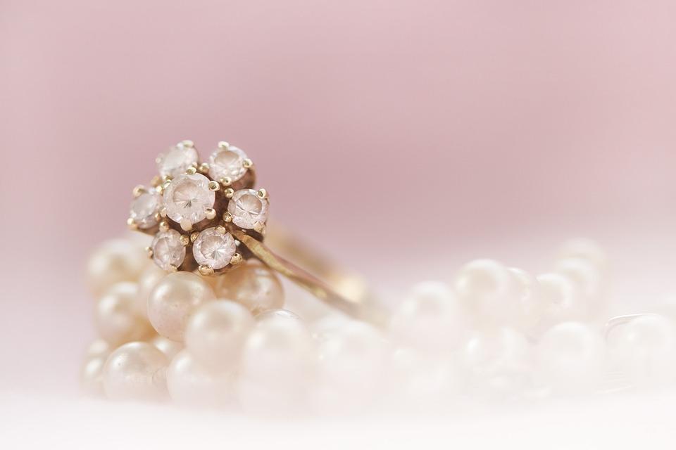 Ring, Gold, Pearl, Pearls, Brilliant, Gemstone