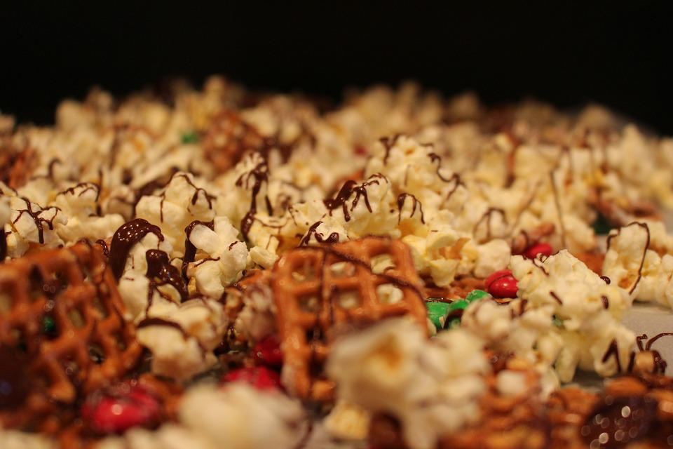 Snack, Popcorn, Pretzel, Tasty