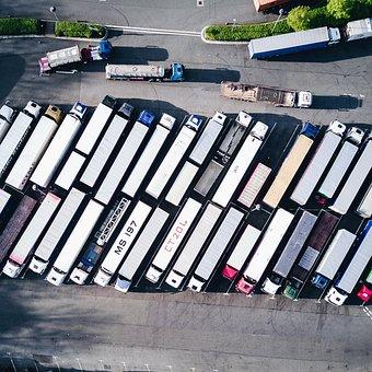 Contenedor, Van, Camión, Vehículo