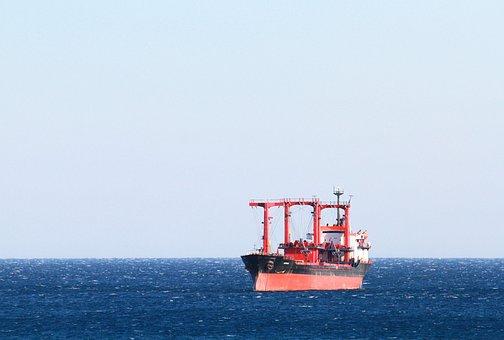 Barco, De Carga, Mar