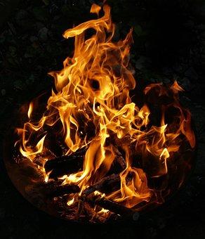 Tűz, Láng, Tűz Tál, Fa A Tűz, Éget, Égés