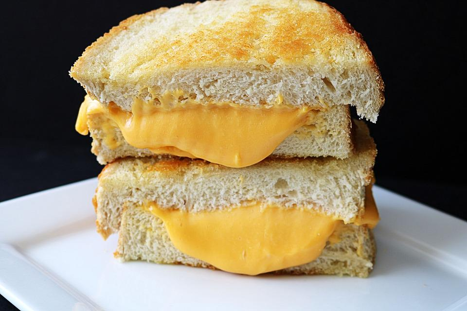 Sandwich, Grilled Cheese, Sour Dough, Cheddar, Lunch