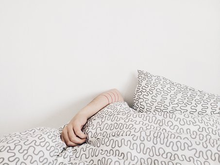 Hand, Bed, Pillow, Sheet, White, Art