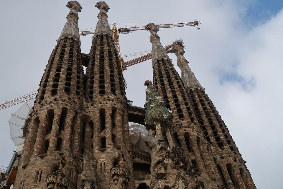 gaudi barcelona cathedral free photo on pixabay. Black Bedroom Furniture Sets. Home Design Ideas