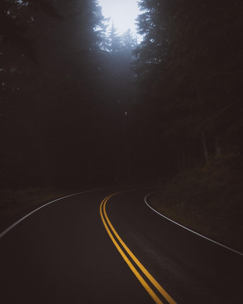 Картинки темная дорога