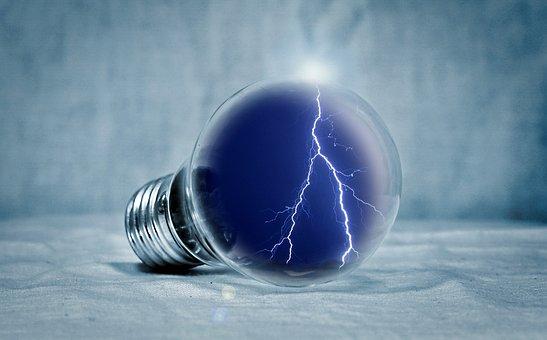 電球, 光, 梨, フラッシュ, エネルギー, エネルギー革命, エネルギー生成