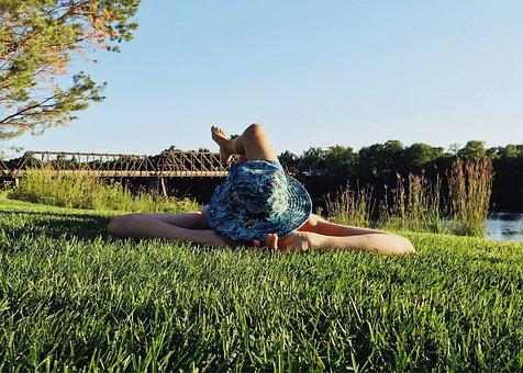 Person, Grass, Laying, Napping, Summer