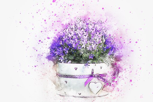 Flower, Cup, Nature, Art, Abstract
