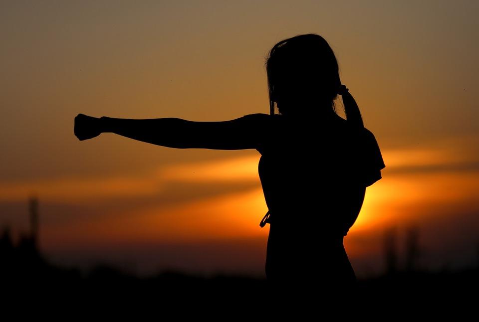 Karate, Tramonto, Lotta, Sport, Silhouette, Resistenza