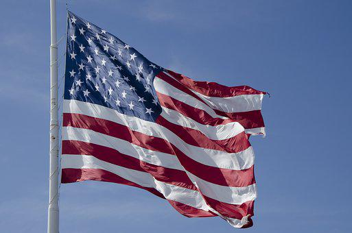Flag, Waving, American, Usa