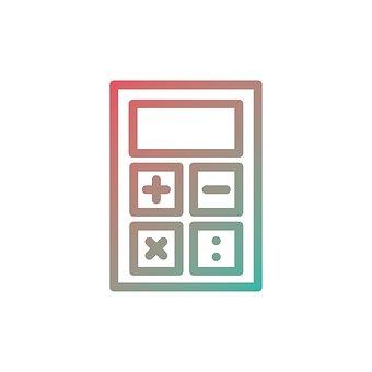 電卓, アイコンを, ビジネス, ファイナンス, シンボル, デザイン, 記号