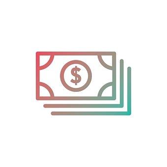 お金, アイコンを, ファイナンス, 銀行, 記号, ビジネス, シンボル