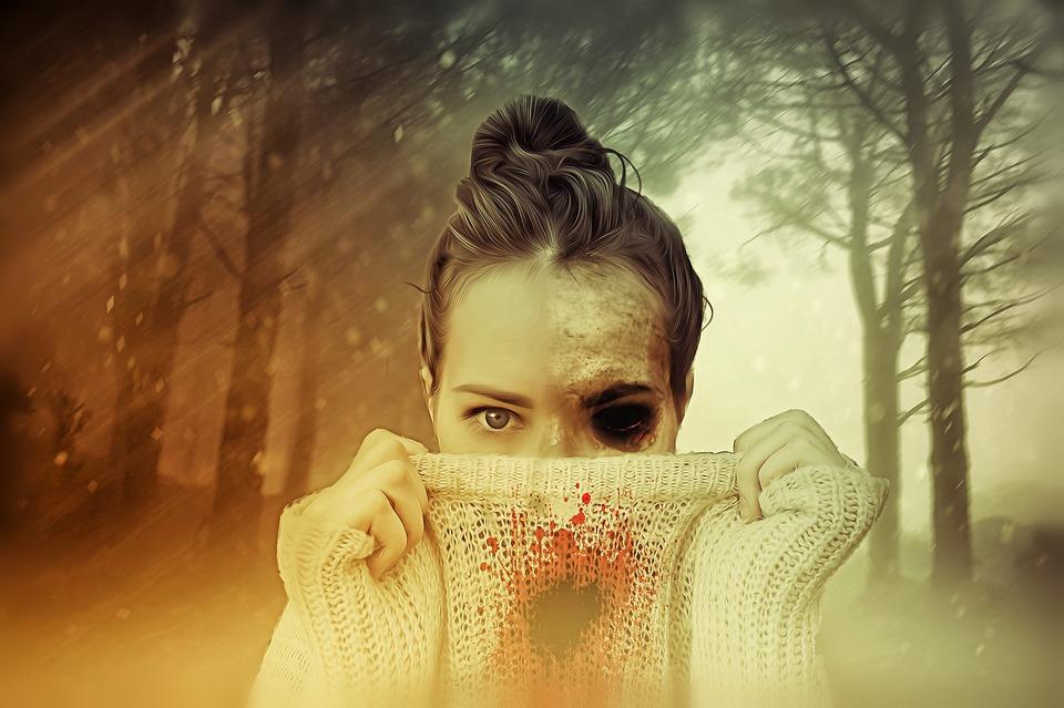 Femme, Femmes, Zombie, Horreur, Macabre, Sombre, Crâne