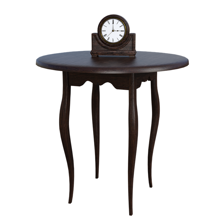 Table Clock Time Brown Wood Board Wood Grain